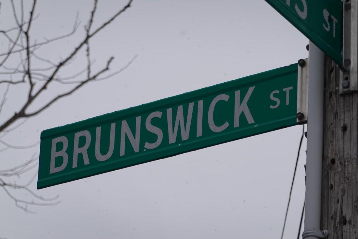 File Photo - A sign marking Brunswick Street in Halifax, N.S., on Feb. 20, 2021.