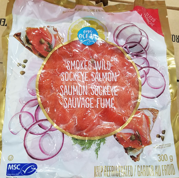 One Ocean brand Sliced Smoked Wild Sockeye Salmon has been recalled due to possible listeria contamination.