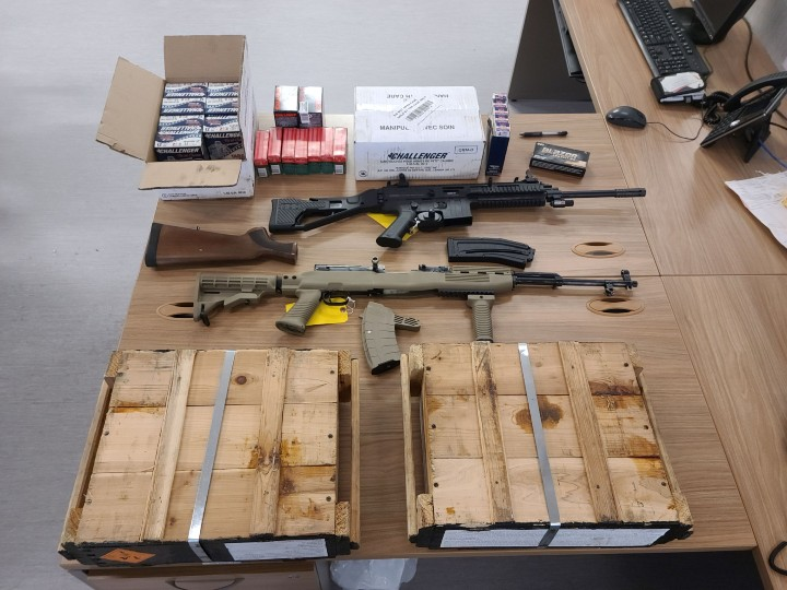 On Jan. 26, police were notified that a property owner had found two rifles and ammunition while documenting inventory of property abandoned at a rental unit on Laclie Street.