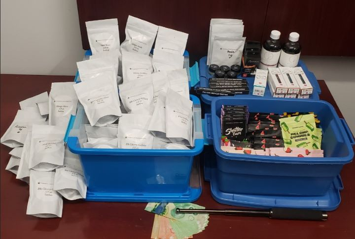 On Friday, police arrested the delivery driver and conducted a search, which resulted in the seizure of more than $10,000 worth of cannabis products.