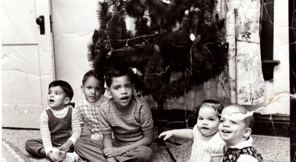 Tim Hague and his siblings.