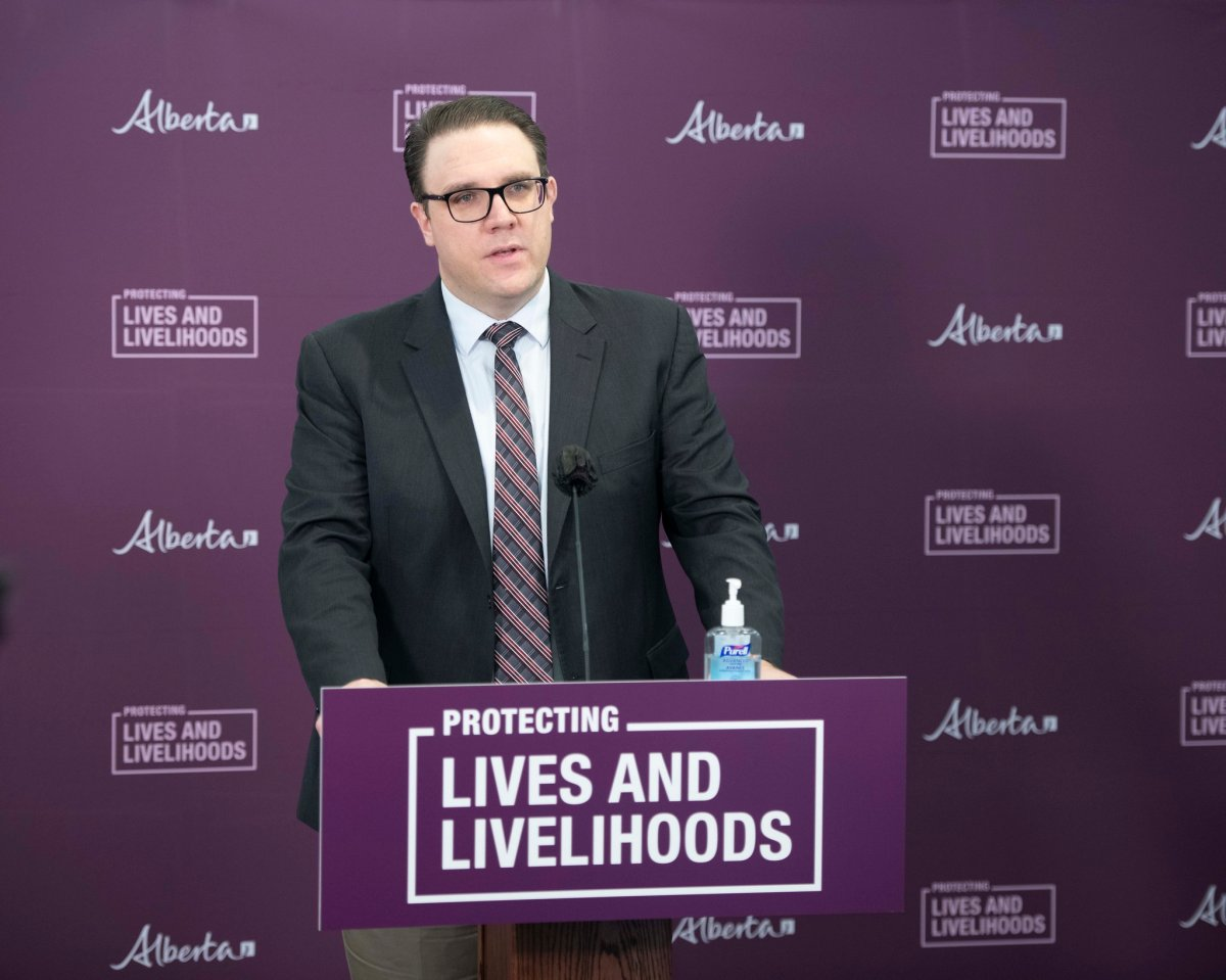 Government House Leader Jason Nixon outlines, from Edmonton on February 24, 2021, a spring legislative agenda that will protect Albertans' lives and livelihoods while also focusing on democratic reform.