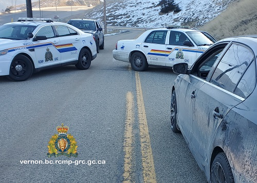 RCMP said they safely stopped an allegedly speeding, drunk driver in Vernon after he raced past a patrol car at more than 160 km/h.