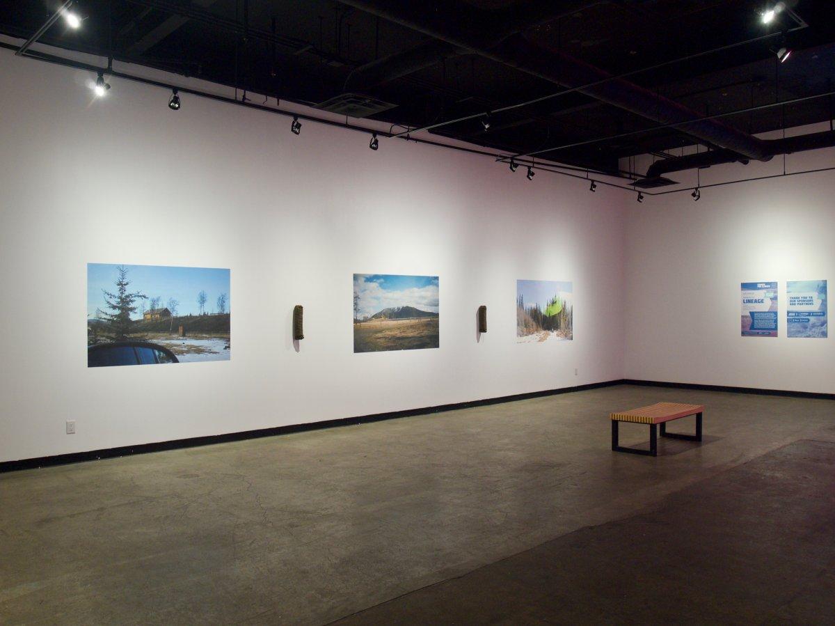 Brittney Bear Hat's work at Edmonton's Latitude 53 gallery in 2018.