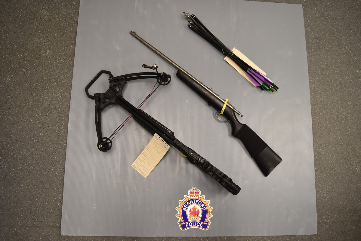 Brantford police have seized weapons from a home in the city.