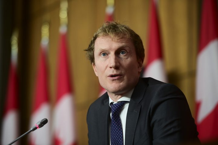 Marc Miller, Minister of Indigenous Services holds a news conference to provide an update on the COVID-19 pandemic in Ottawa on Wednesday, Jan. 13, 2021. THE CANADIAN PRESS/Sean Kilpatrick.