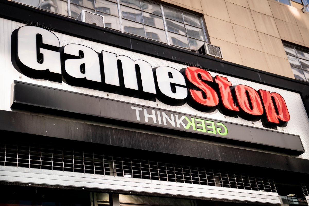 FILE - Pedestrians pass a GameStop store on 14th Street at Union Square, Thursday, Jan. 28, 2021, in the Manhattan borough of New York.