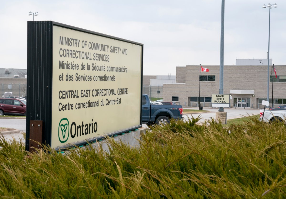 The Central East Correctional Centre in Lindsay, Ontario on Friday, April 17, 2020.  A COVID-19 outbreak was declared on Jan. 29, 2021.