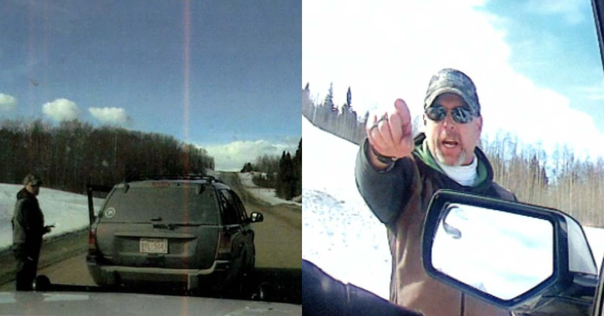 Photos of a man accused of pulling a rifle on a Clearwater County peace officer near Rocky Mountain House on Tuesday, Feb. 23, 2021.