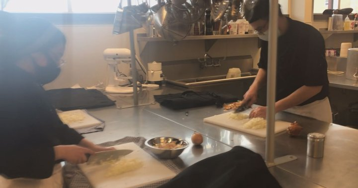 Among the helping hands in Edmundston, N.B., CCNB students dishing out meals for care homes