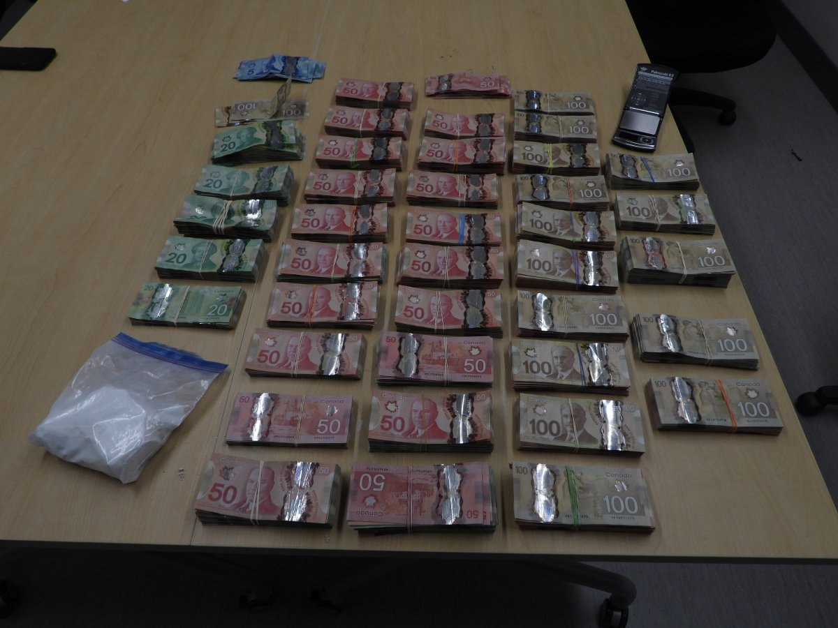 As part of the continuing 'Project Renewal' investigation, local police and OPP officers seized hundreds of thousands of dollars worth of cash and drugs in Belleville last week.