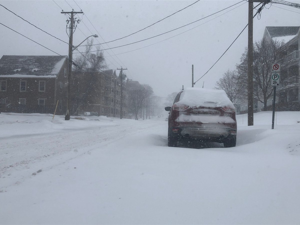 45 cm of snow are forecast to fall in the northern areas of New Brunswick on Feb. 2, 2021.
