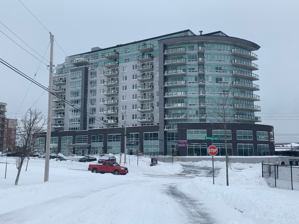 Halifax Regional Police have declared the death of a 26-year-old at this building in the 600 block of Washmill Lake Drive.