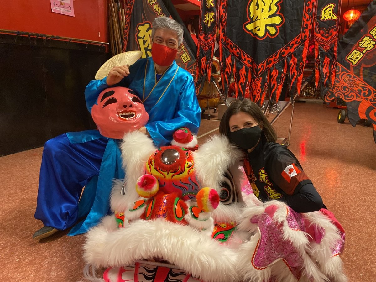 Sandy Yep and Jill Brooks of Hong Luck Kung Fu Club in Toronto. Photo courtesy Jill Brooks.