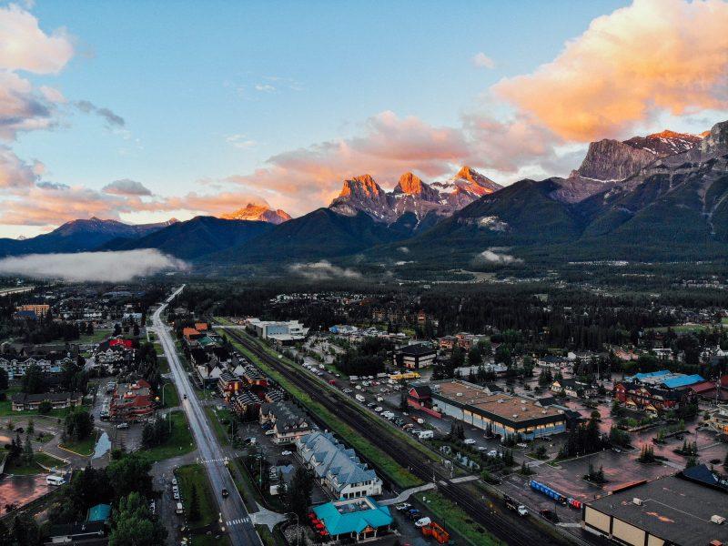 Sunrise in Canmore, Alta.