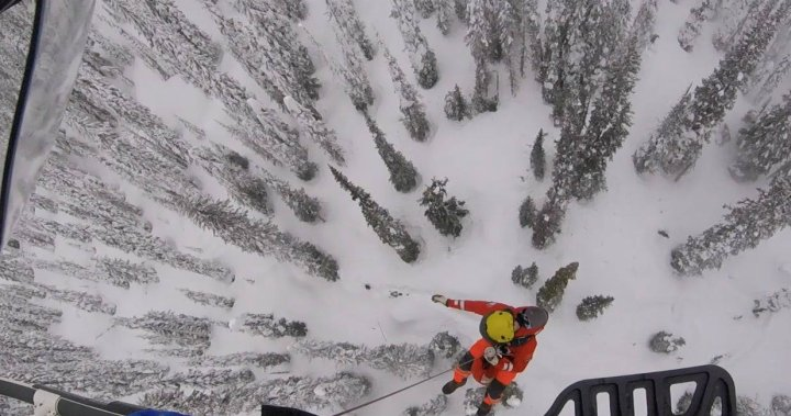 Okanagan snowmobiler rescued by helicopter after suffering back injury