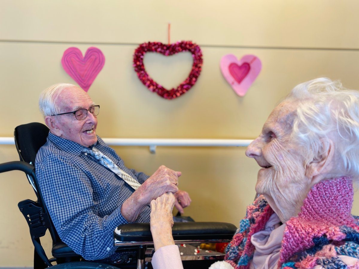 Marion and Robert Sisson have been married for 74 years.