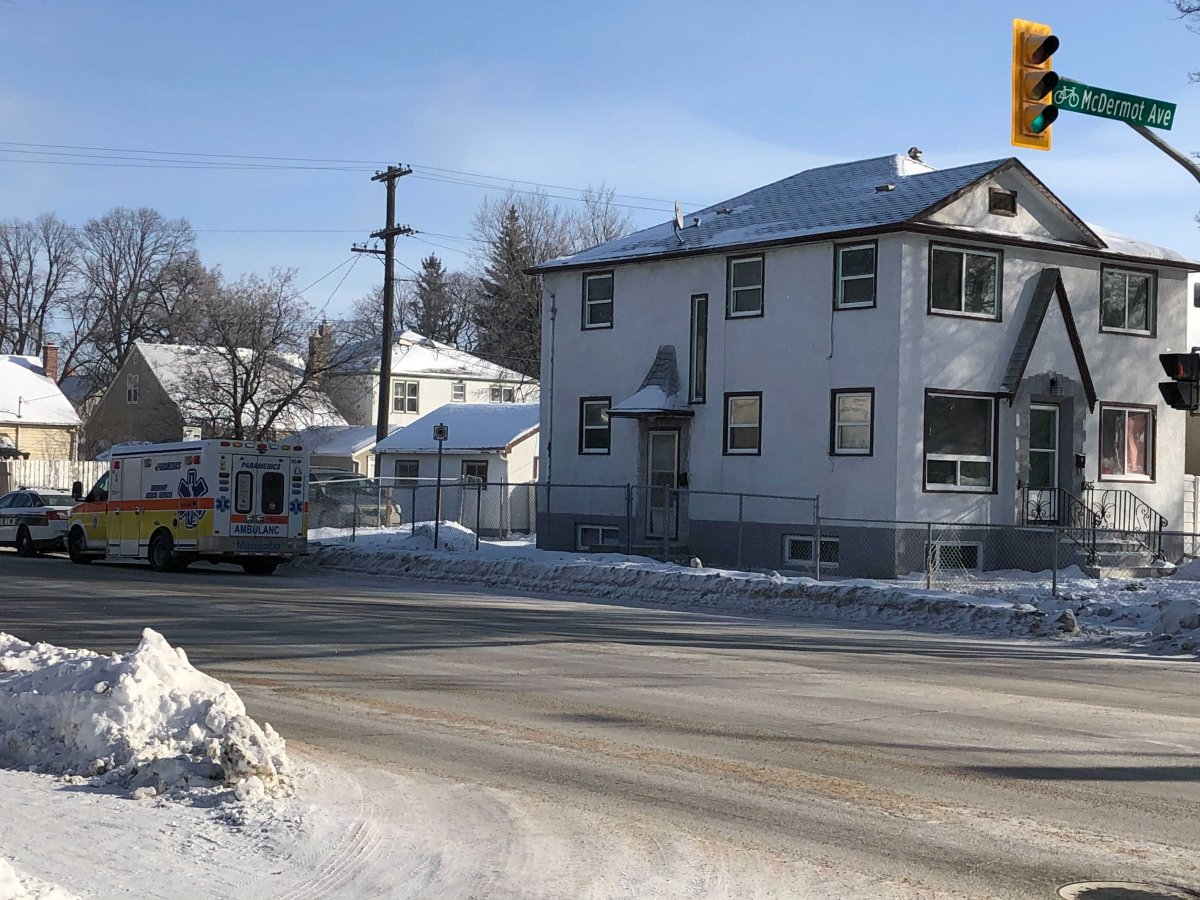 A house fire on McDermot Avenue sent one person to hospital.