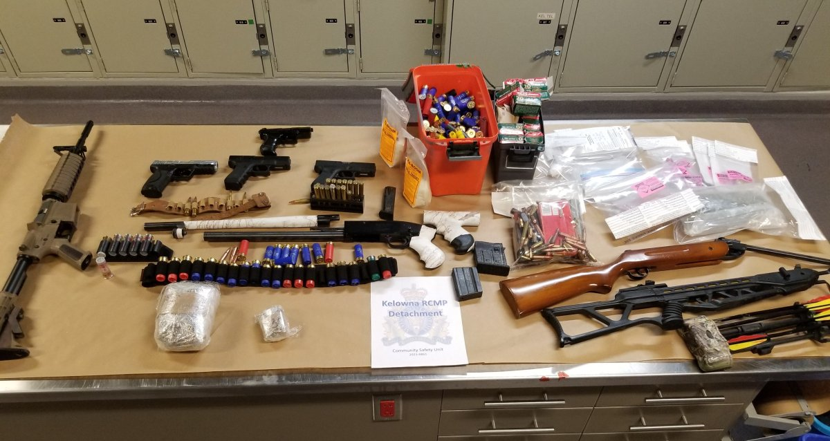 Kelowna RCMP say the drug bust happened along the 1300 block of Highland Drive South, and was part of an active investigation into suspected drug trafficking.