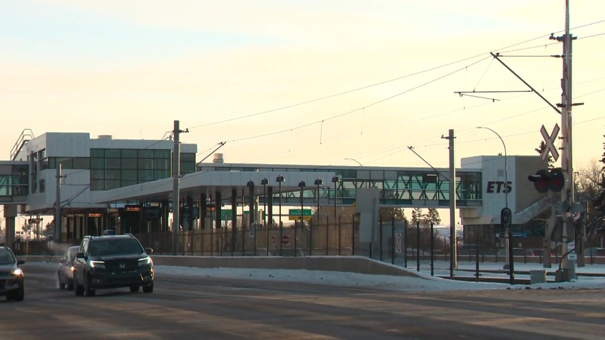 Edmonton Transit Service's Southgate LRT Station on Tuesday, February 9, 2021.