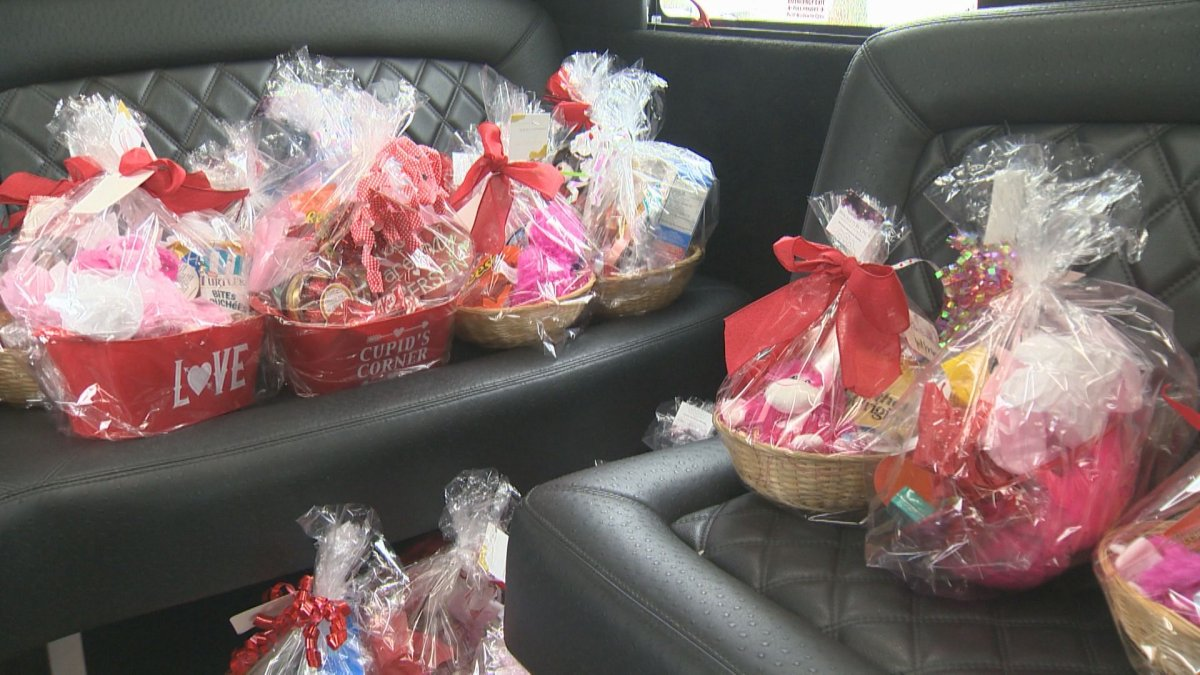 Peekaboo Limo with the help of other community members delivered 65 gift baskets to Regina's Luther Special Care Home just in time for Valentine's Day.