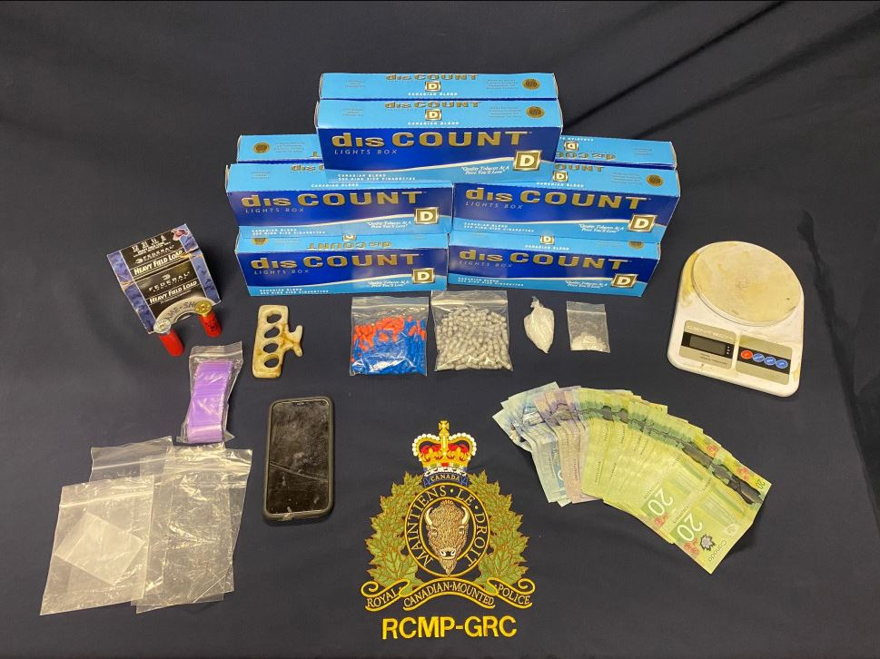 The New Brunswick RCMP has seized various types of drugs, contraband cigarettes and money, as part of an ongoing drug investigation that began in December 2020.