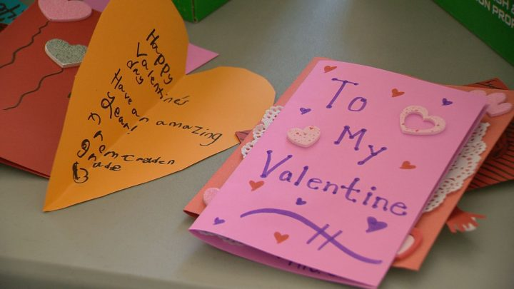 These cards were handwritten by Regina students from Harbour Landing School.
