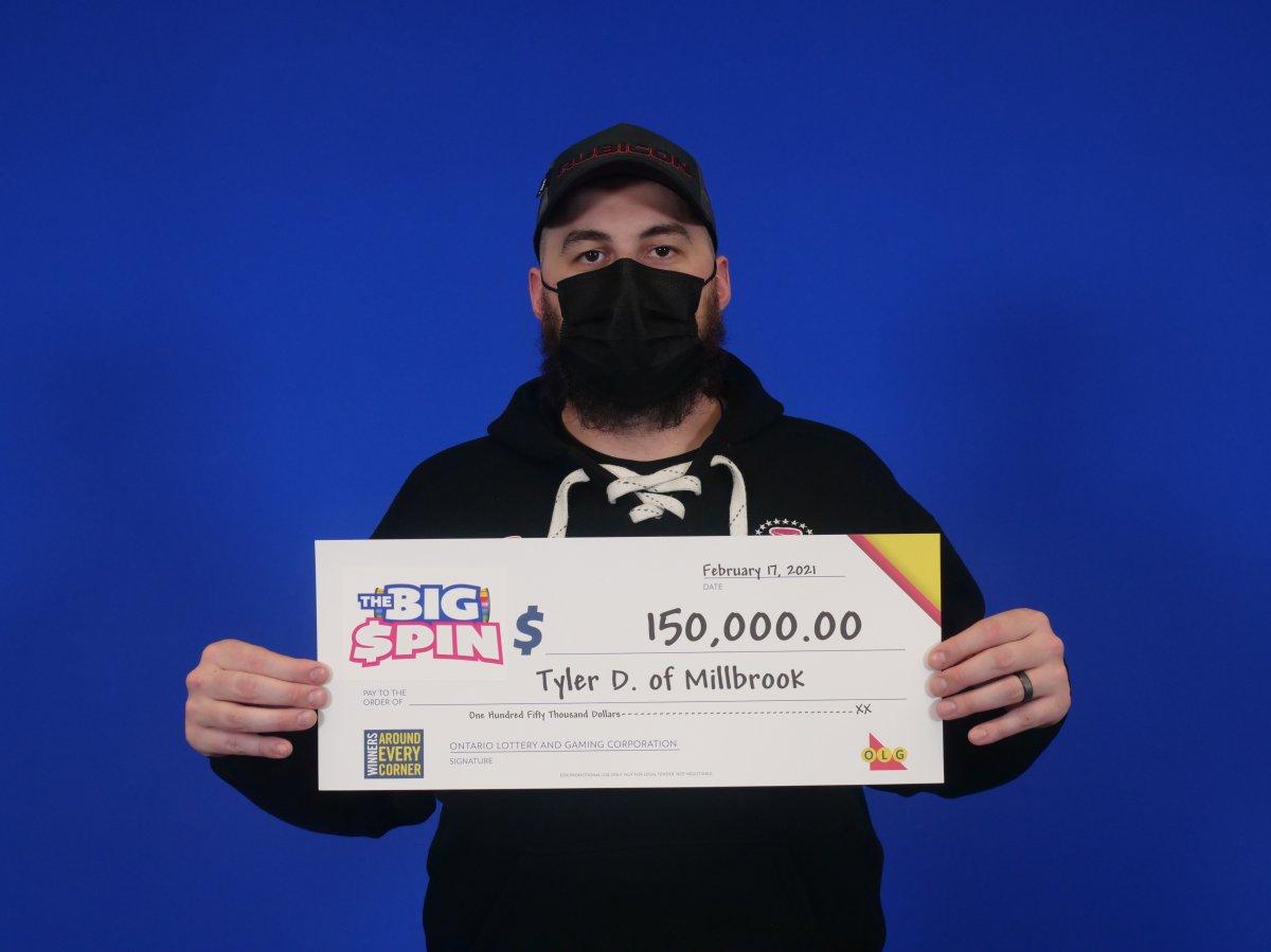 A Millbrook, Ont., man spun his way to $150,000.
