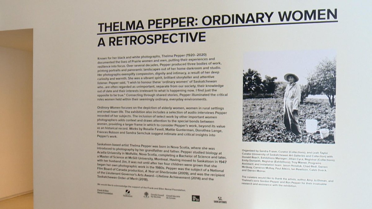 The Thelma Pepper exhibition at Remai Modern in Saskatoon.