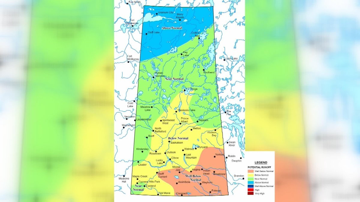 The Saskatchewan Water Security Agency says spring runoff estimates are based on a number of factors, including conditions at freeze-up and the snowpack.