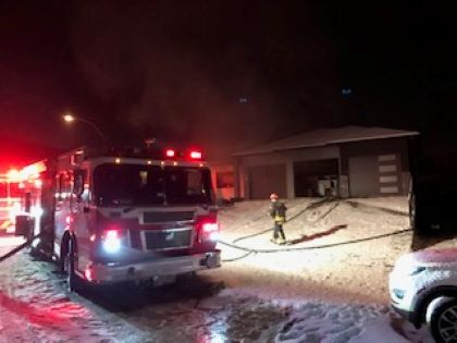 A basement fire at a West Kelowna home Thursday night is believed to have started by a candle.