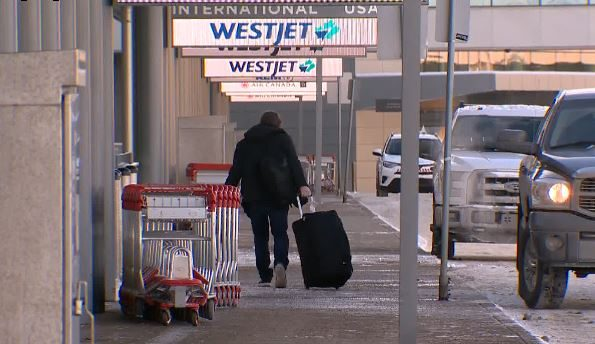 Calgary International Airport on February 18, 2021.