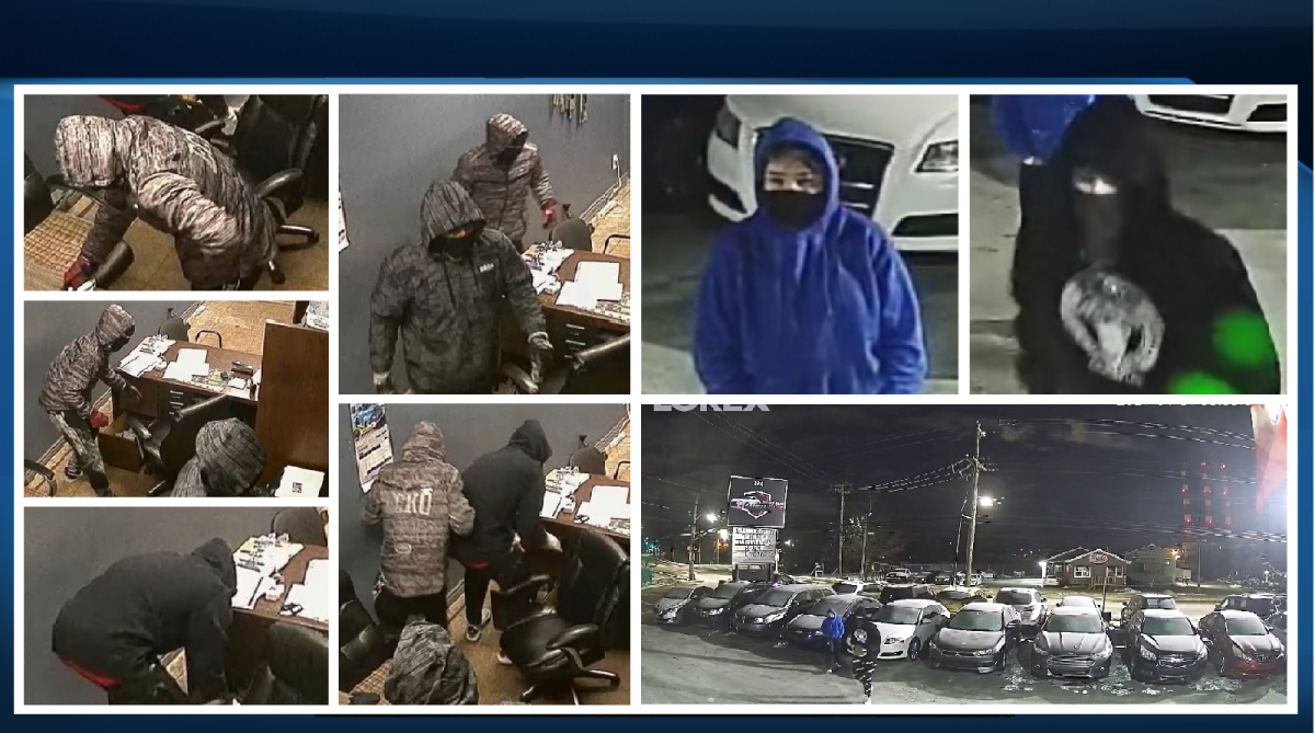 Police are asking for the public's assistance identifying the suspects responsible for two incidents where multiple vehicles were stolen last month in Dartmouth.