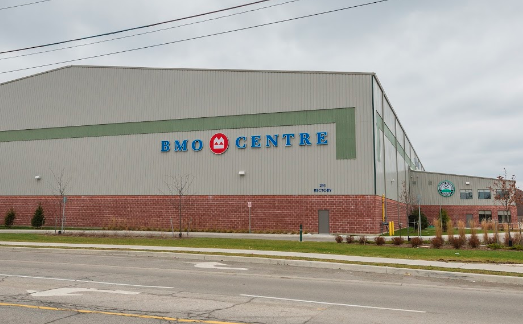 London's BMO Centre, located at Rectory and Little Simcoe streets.
