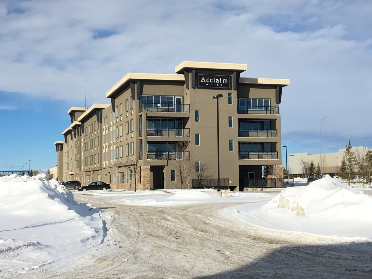 Calgary's Acclaim Hotel is one of the government-authorized COVID-19 quarantine sites. Pictured Friday, Feb. 19, 2021.