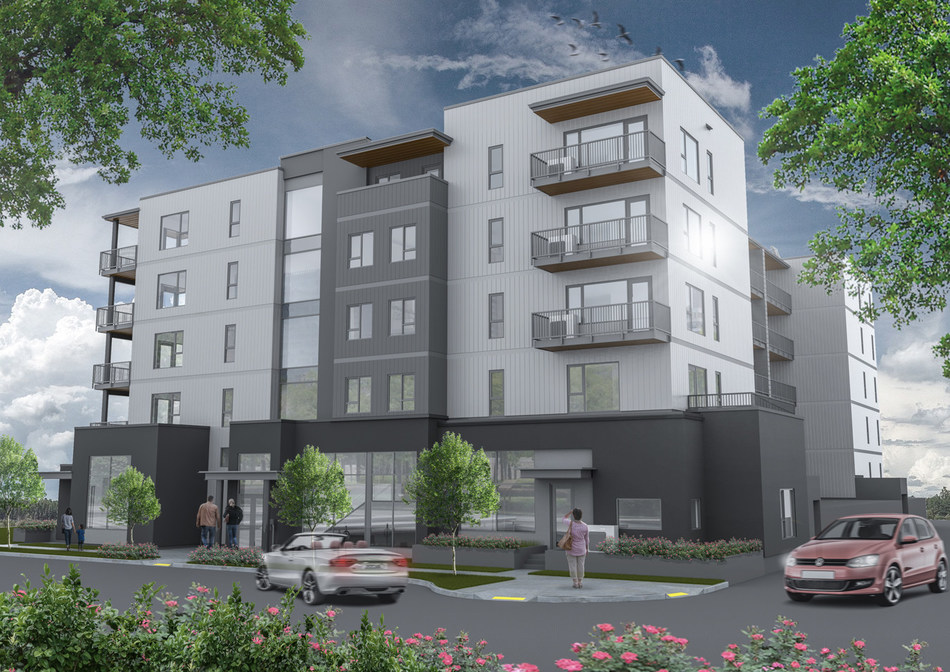 A project rendering of Hadgraft Wilson Place, which is being built in Kelowna at 555 Fuller Ave.