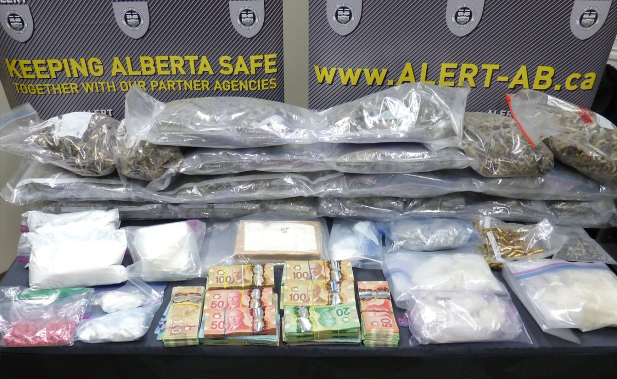 More than $700,000 worth of drugs and cash were seized from a home in Edmonton's Glastonbury neighbourhood on Feb. 8, 2021.