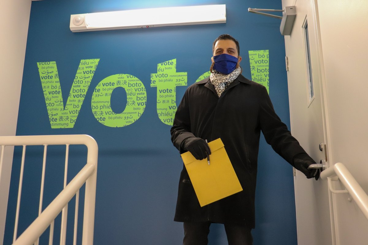 George Chahal at the Elections Calgary offices, pictured on Feb. 11, 2021.