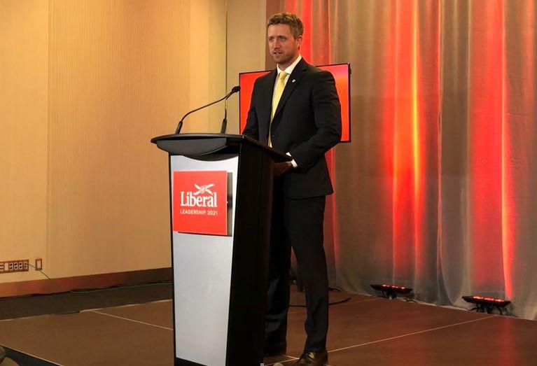 Premier-Designate Iain Rankin speaks to media after winning the Liberal Leadership race.