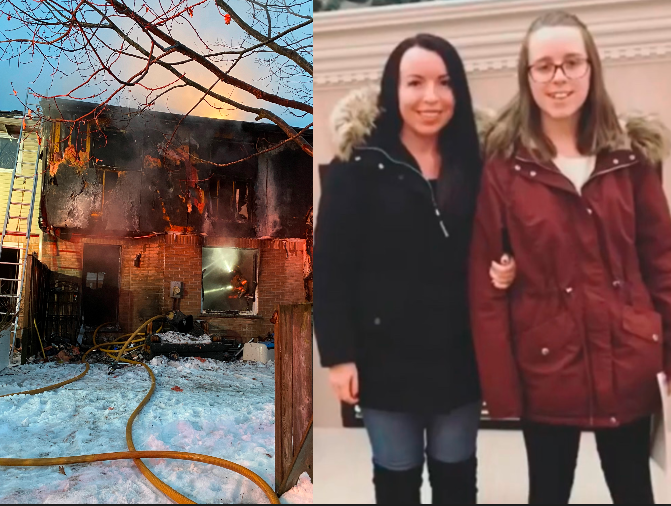 Maggie McPherson (left) and her 13-year-old daughter Mya (right). The family lived at 121 Bonaventure Drive, where a fire took place Saturday morning.
