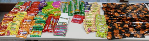 Photo of some of the alleged cannabis candy edibles that were seized by police from a Markham convenience store.