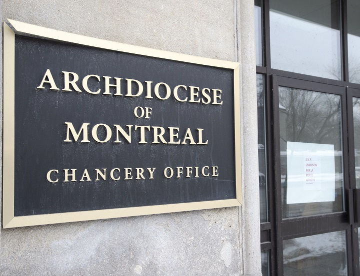 The Chancery of the Archdiocese of Montreal is seen Monday, February 15, 2021 in Montreal.