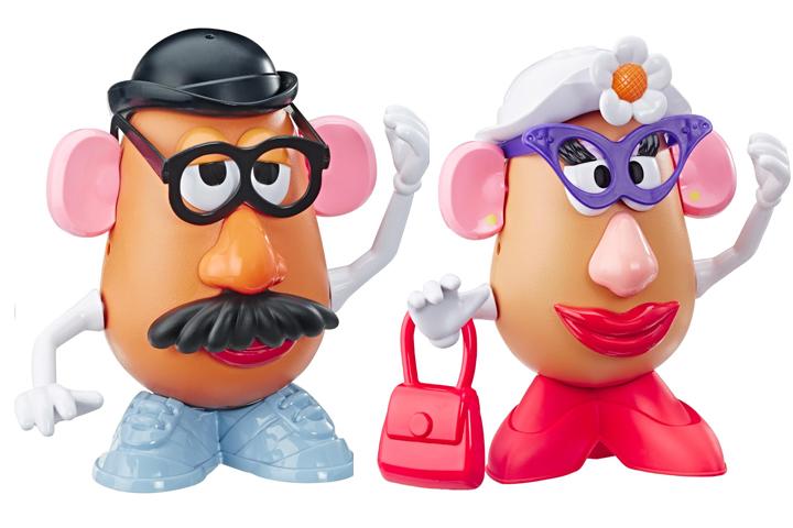 Hasbro's Mr. Potato Head and Mr. Potato Head dolls from 'Toy Story 4' are shown.