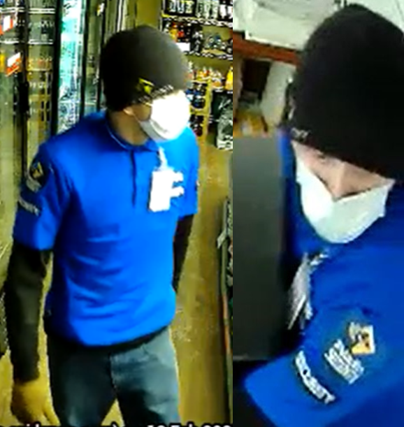 Kingston police are looking for this man, who they say was responsible for an armed robbery over the weekend.