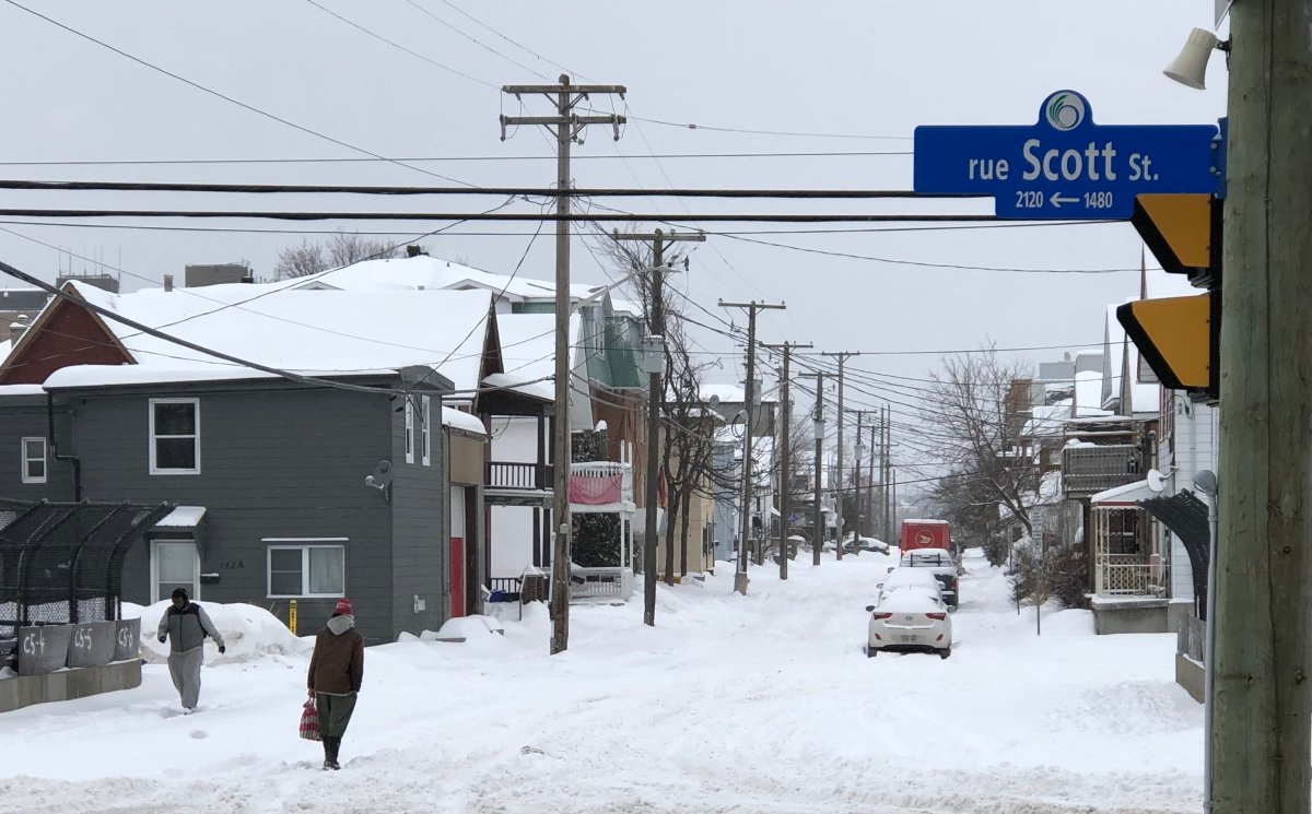 A heavy blanket of snow has made some Ottawa roads treacherous for motorists, police said Tuesday.
