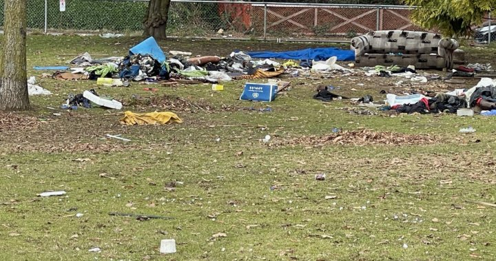 City of Vancouver collected 108 tonnes of garbage from Strathcona Park in less than five months