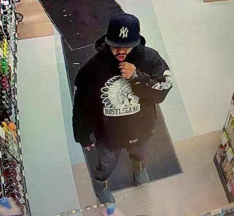 RCMP are looking for a suspect wanted in connection to an armed robbery at a liquor store in Flin Flon Feb. 11.