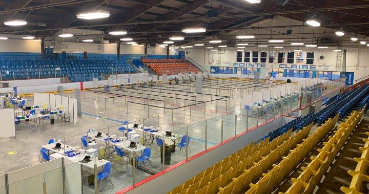 Coronavirus: Pointe-Claire's Bob Birnie Arena transformed into mass vaccination site