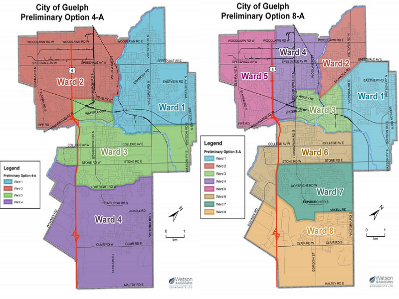 The City of Guelph has released options for its ward boundary review.