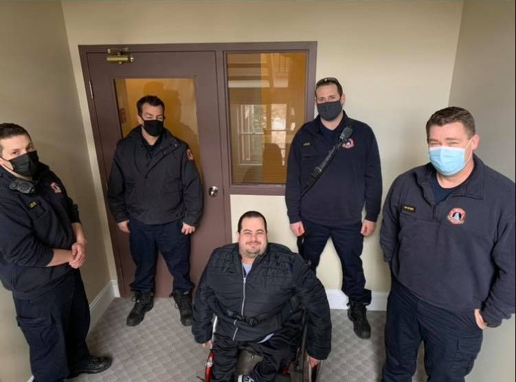 The only time Adam Denney was able to leave his apartment was last weekend with the help of his friends and a local fire department who carried him up and down the stairs.